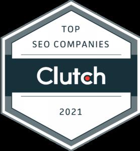 Top SEO Companies Clutch 2021 badge